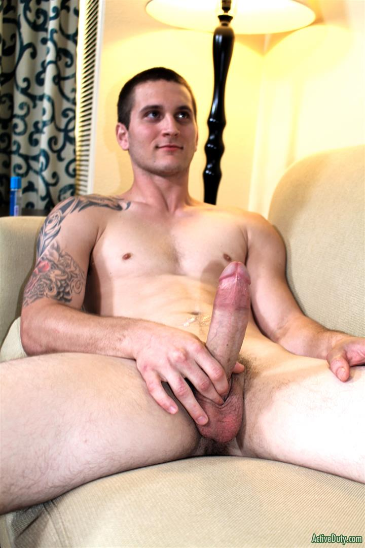 Active-Duty-Allen-Lucas-Army-Private-Jerking-Off-Big-Uncut-Cock-Amateur-Gay-Porn-12 US Army Private Jerking His Big Uncut Cock